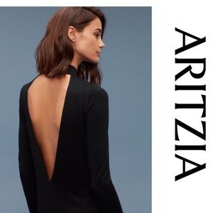 Wilfred Aritzia Dress Moulton black SZ Medium Back